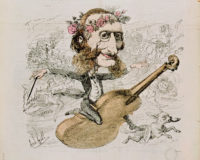 Jacques Offenbach; engraving by André Gill from the cover of La Lune, 1866