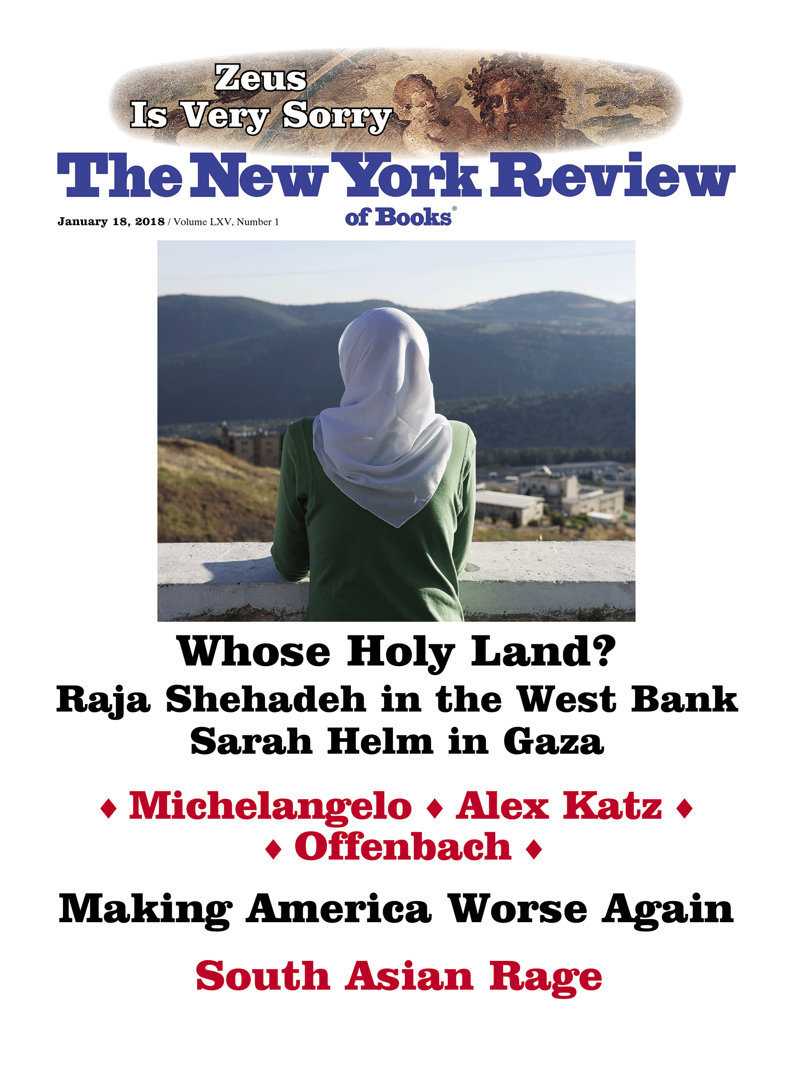 Image of the January 18, 2018 issue cover.