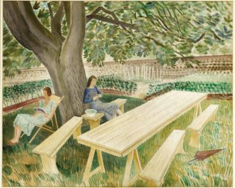 Eric Ravilious: Two Women in a Garden, 1933