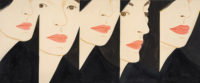 Alex Katz: Vivien, oil on linen, 60 x 144 inches, 2017