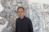 Qiu Zhijie in his studio, 2018