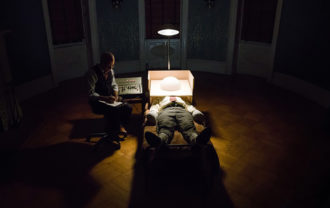 Peter Sarsgaard as Frank Olson undergoing psychological tests in Errol Morris's Wormwood, 2017
