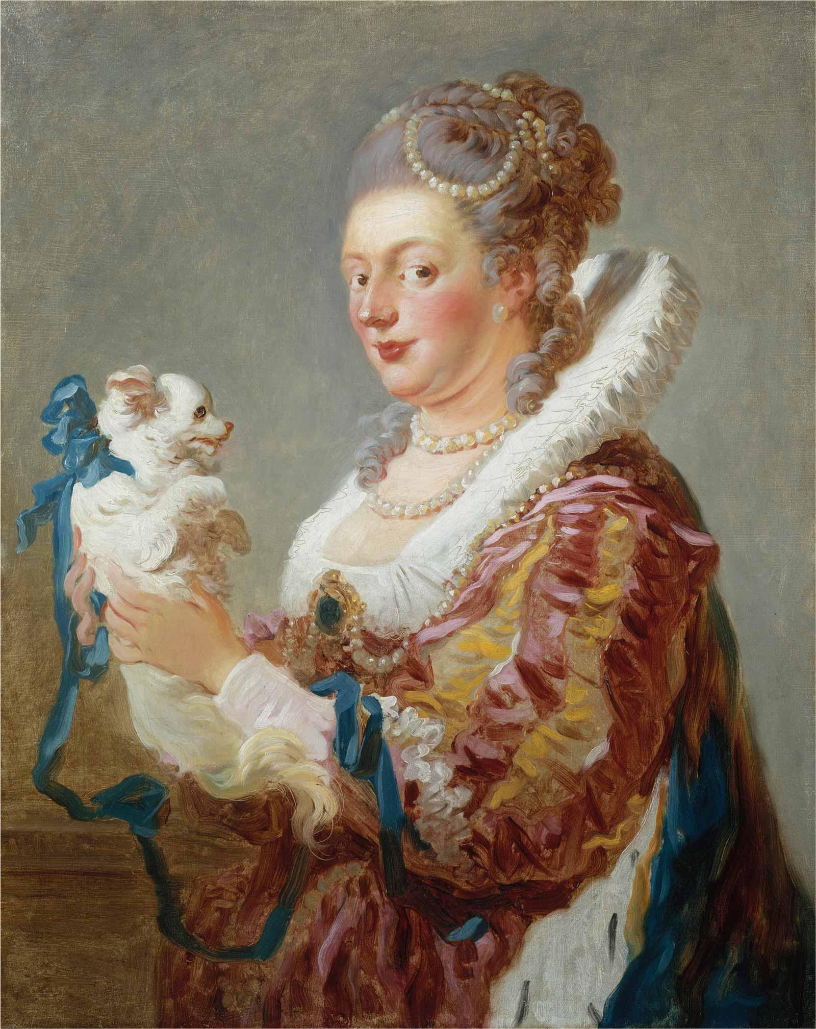 Jean Honoré Fragonard: Woman with a Dog, c. 1769