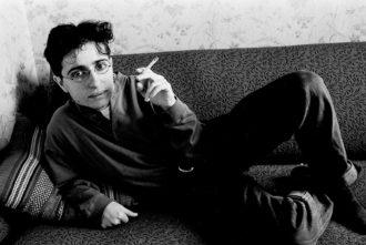 Masha Gessen at her apartment in Moscow in the early 1990s, when she was in her mid-twenties