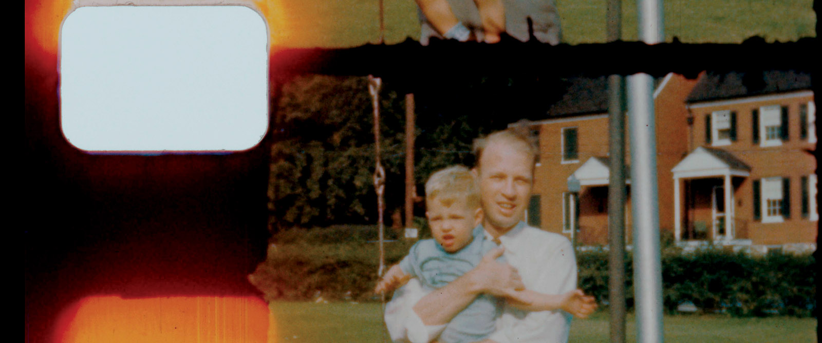 Eric Olson with his father, Frank Olson, Frederick, Maryland, late 1940s; from Errol Morris's Wormwood