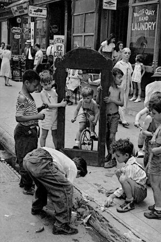 New York City, circa 1940; photographs by Helen Levitt