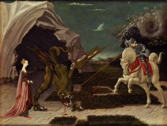 Paolo Uccello: St. George and the Dragon, circa 1470
