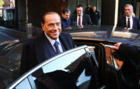 Silvio Berlusconi, himself barred from elected office until 2019, campaigning for his party, Forza Italia, in Rome, February 11, 2018