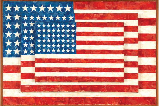 Jasper Johns: <i>Three Flags</i>, 1958