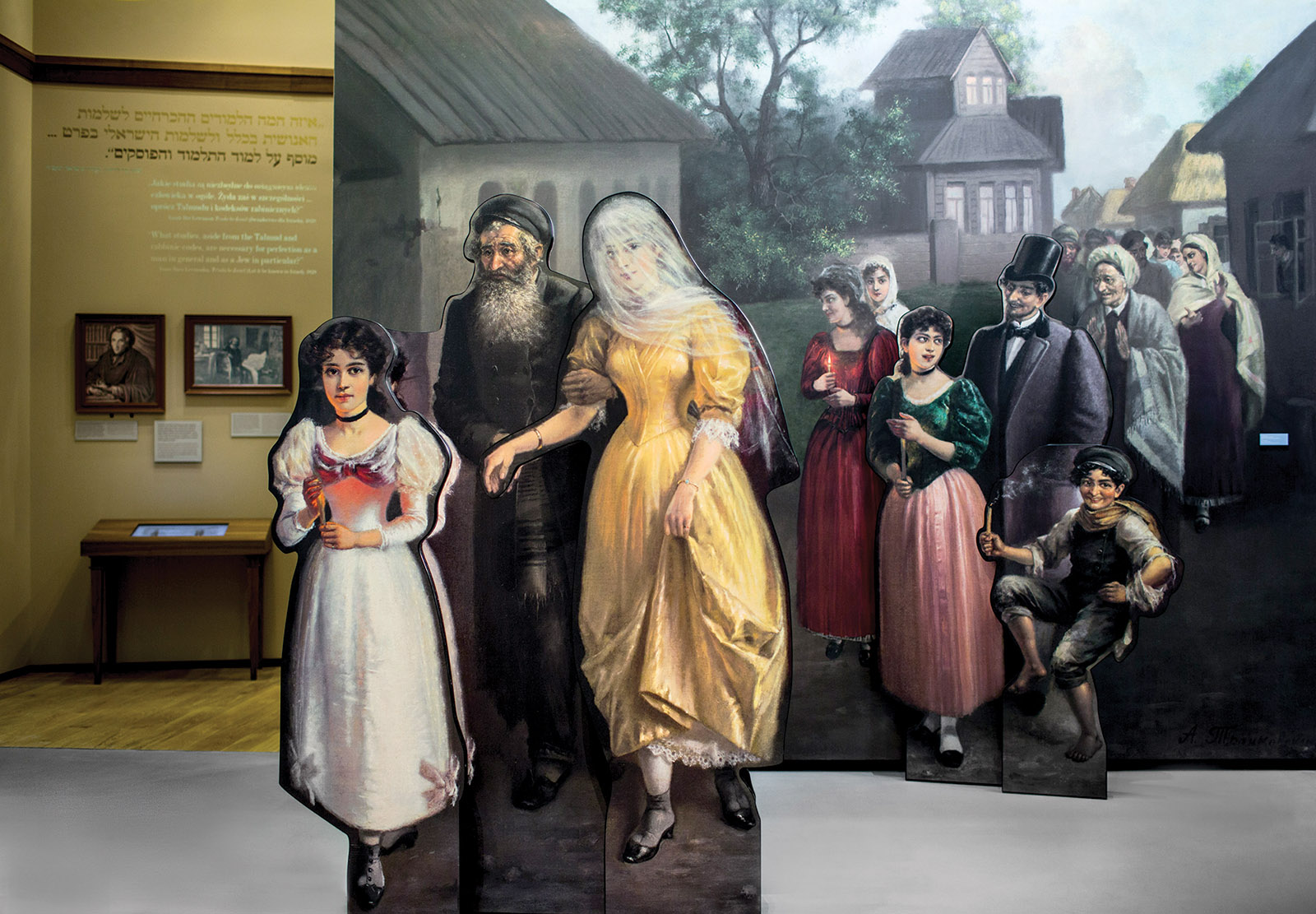 'Jewish Wedding,' 1890s; from a display at the POLIN Museum of the History of Polish Jews, Warsaw