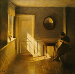Peter Vilhelm: A Girl Reading in an Interior, early twentieth century