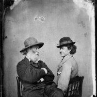 Walt Whitman and his rebel soldier friend Pete Doyle, Washington, D.C., 1865