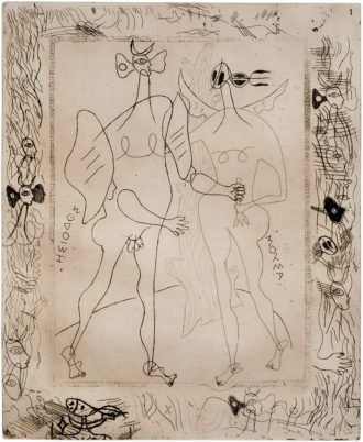 Etching by Georges Braque for an edition of Hesiod's Theogony, commissioned by Ambroise Vollard, early 1930s