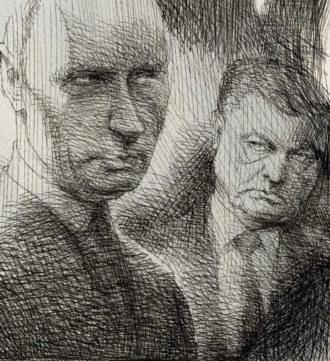 Vladimir Putin and Petro Poroshenko
