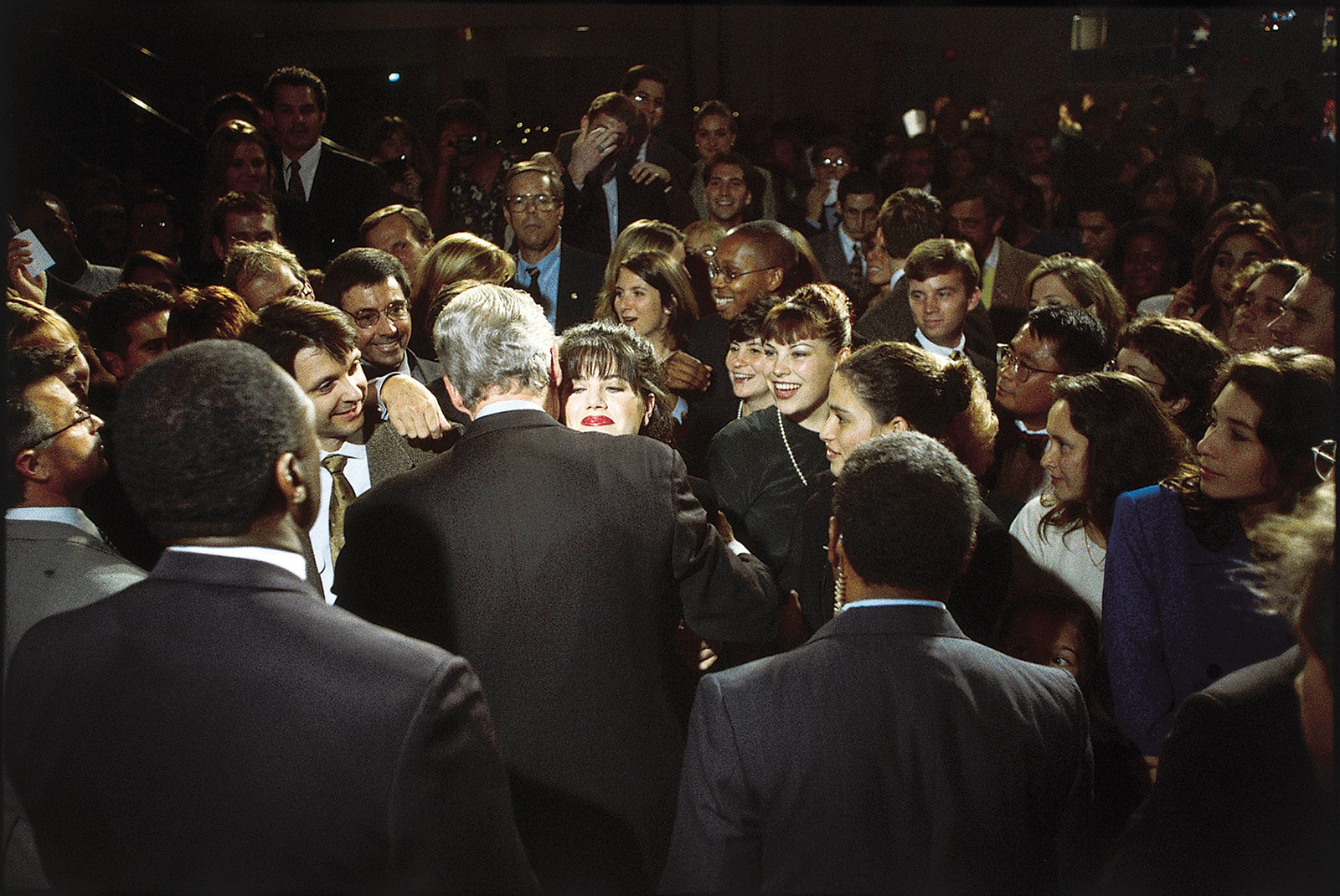 President Bill Clinton with Monica Lewinsky at a fund-raiser, Washington, D.C., October 1996