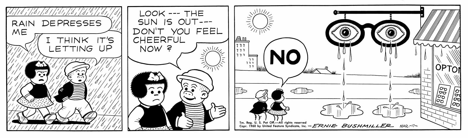 Comic nancy strip