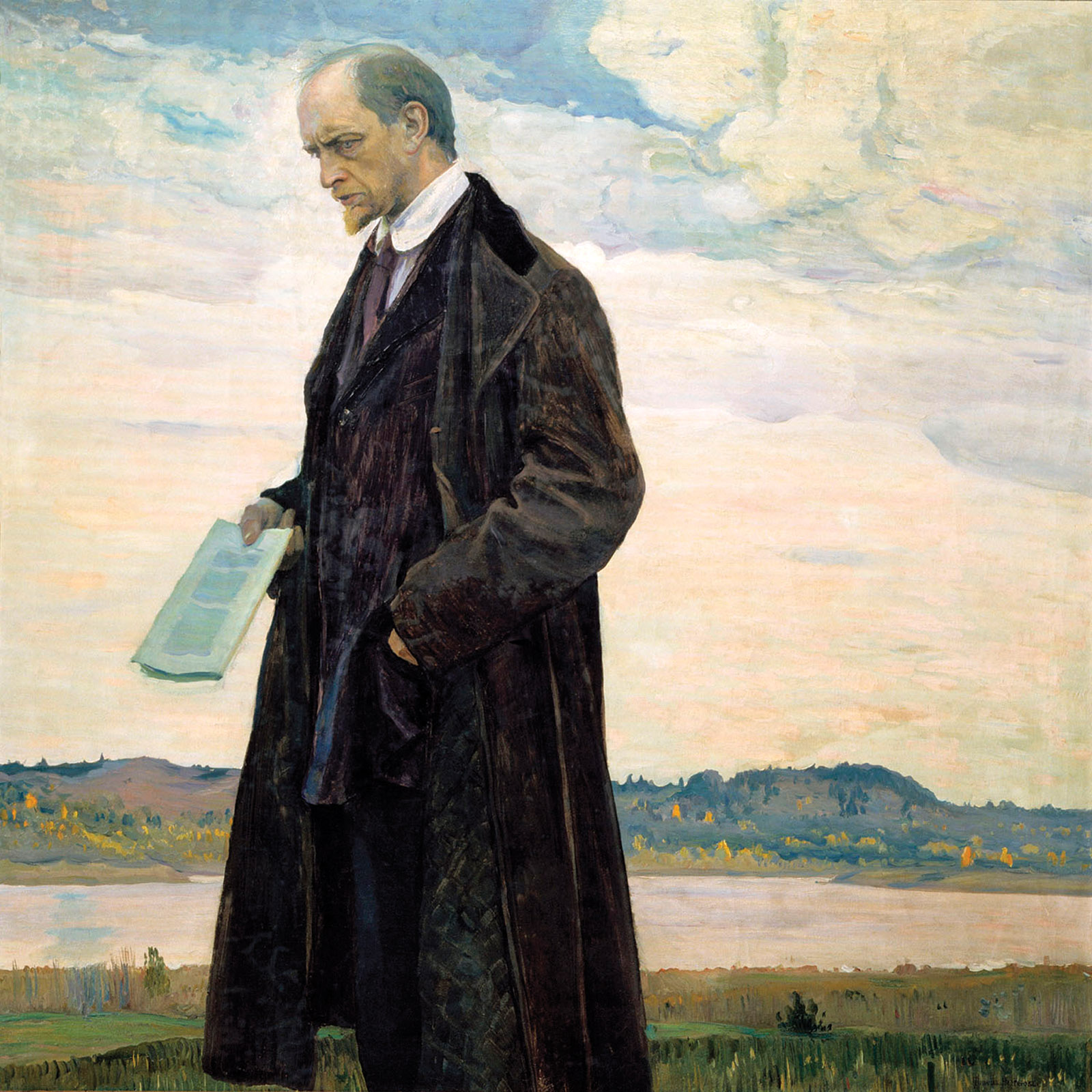 Mikhail Nesterov: The Thinker (Portrait of Ivan Ilyin), 1921