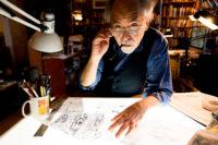 Art Spiegelman in his studio, New York City, February 3, 2018