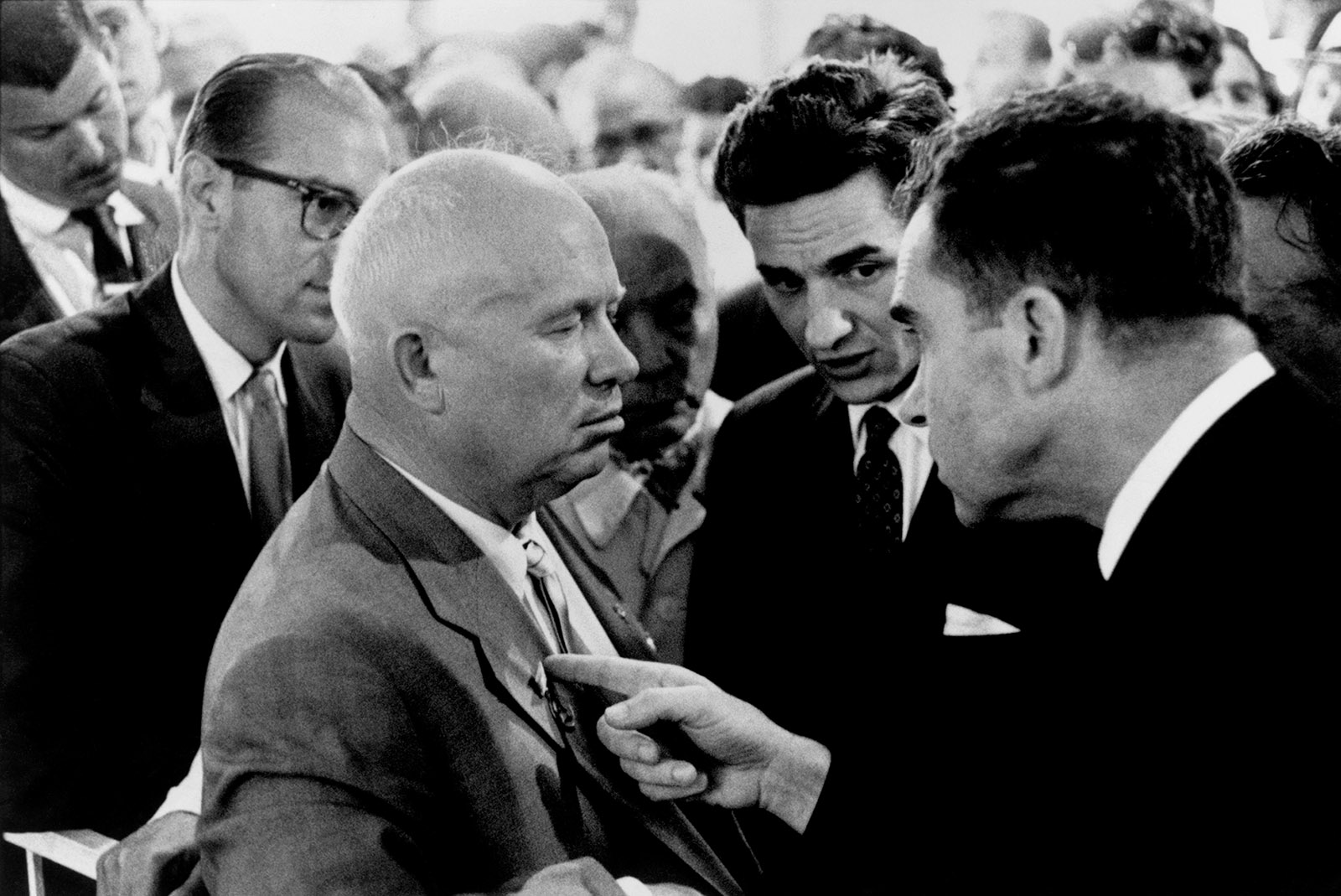 Nikita Khrushchev and Richard Nixon, Moscow, 1959