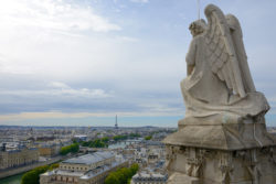 The view looking west from the Tour Saint-Jacques in central Paris