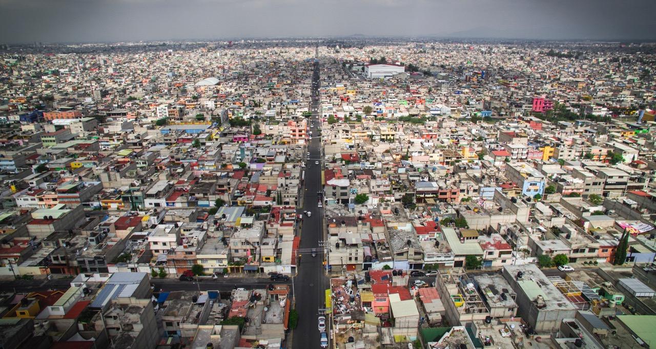 Ciudad Nezahualcóyotl, part of greater Mexico City, 2016