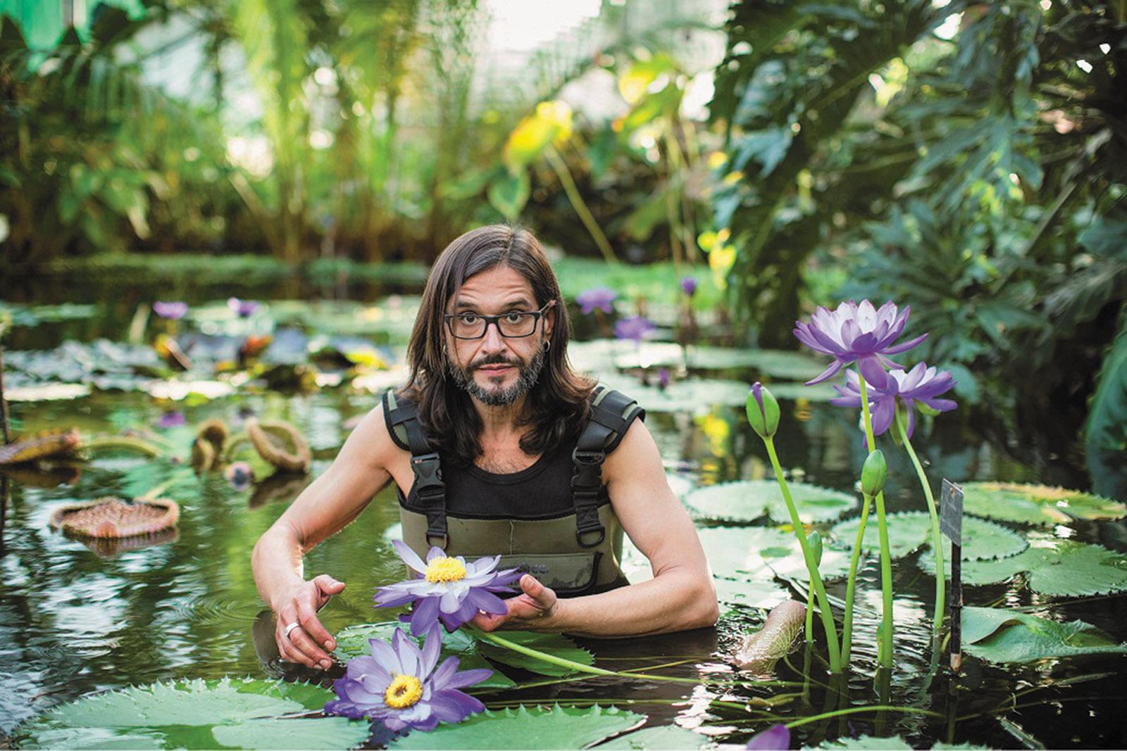 Carlos Magdalena at the Royal Botanic Gardens, Kew, 2014