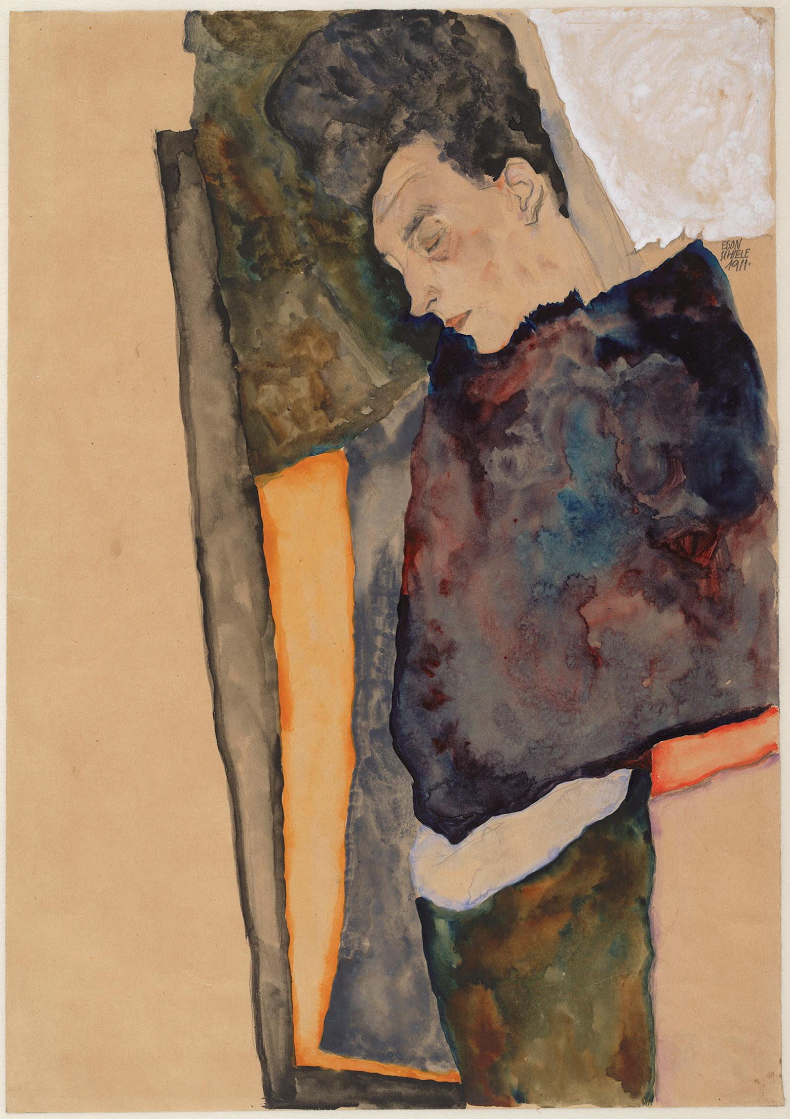 Egon Schiele: The Artist's Mother, Sleeping, 1911
