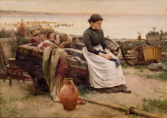 Walter Langley: But Oh for the Touch of a Vanished Hand, 1888