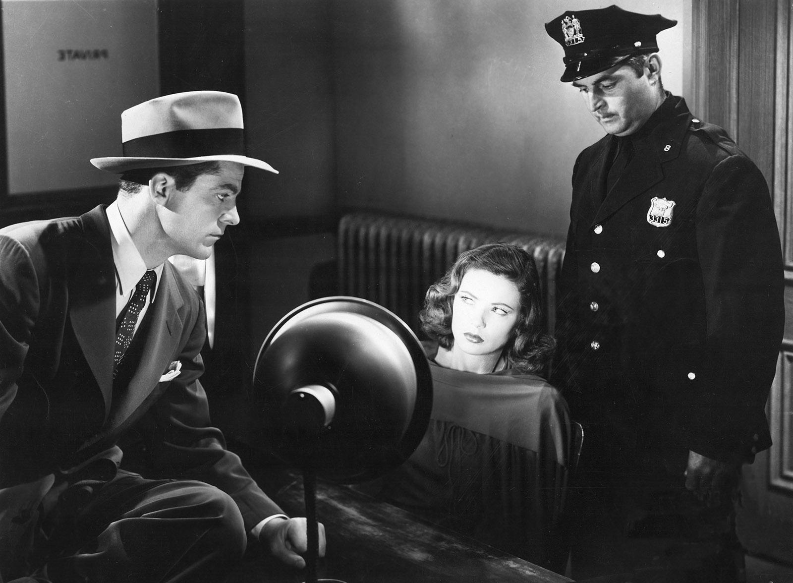 Dana Andrews and Gene Tierney in Laura, 1944