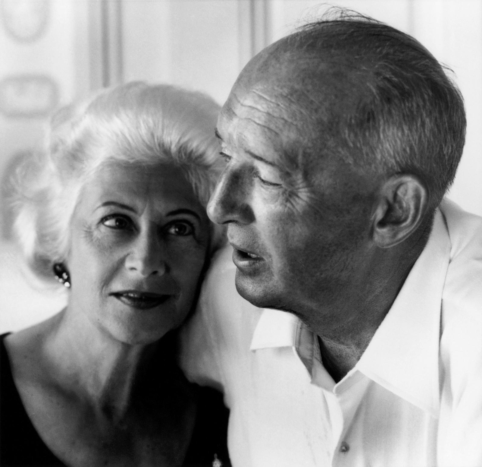 Véra and Vladimir Nabokov, Montreux, Switzerland, 1966