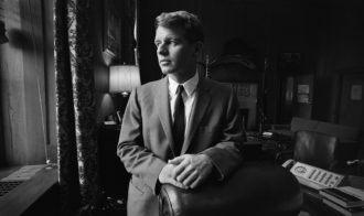 Robert F. Kennedy, then Attorney General, in his Justice Department office, circa 1964