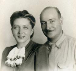 The author's parents, Renata and Renato Poggioli, in the mid-1940s