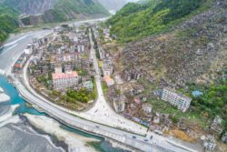 Ruins from one of the most significant earthquakes in Chinese history, pictured a month before the tenth anniversary of the earthquake, Beichuan county, Mianyang, Sichuan, China, April 5, 2018