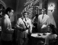 Humphrey Bogart, Claude Rains, Paul Henreid, and Ingrid Bergman in Casablanca, 1942