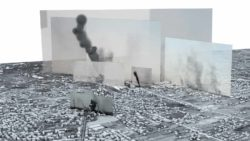 Photographs and videos located within a 3D model telling the story of one of the heaviest days of bombardment in the 2014 Israel-Gaza war