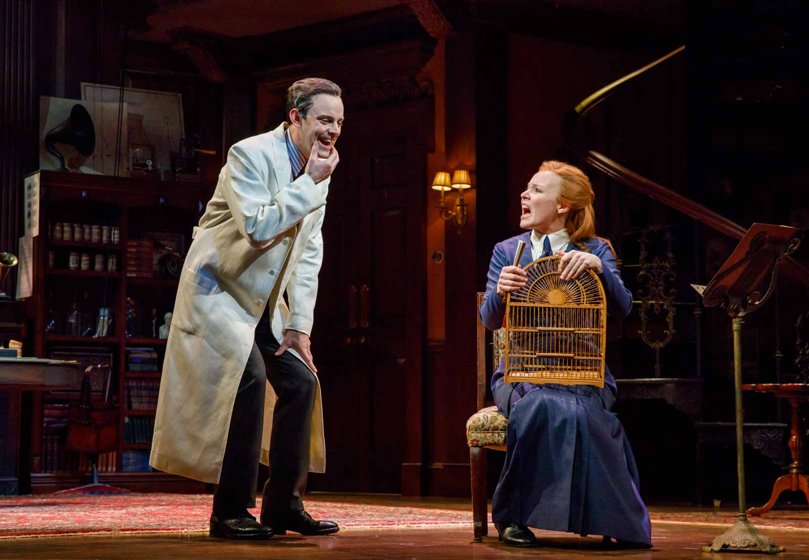 Lauren Ambrose and Harry Hadden-Paton in My Fair Lady, Lincoln Center Theater, 2018