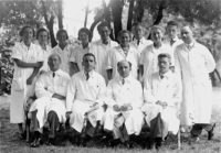 Hans Asperger, bottom right, with the staff of the Vienna Children's Hospital, 1933