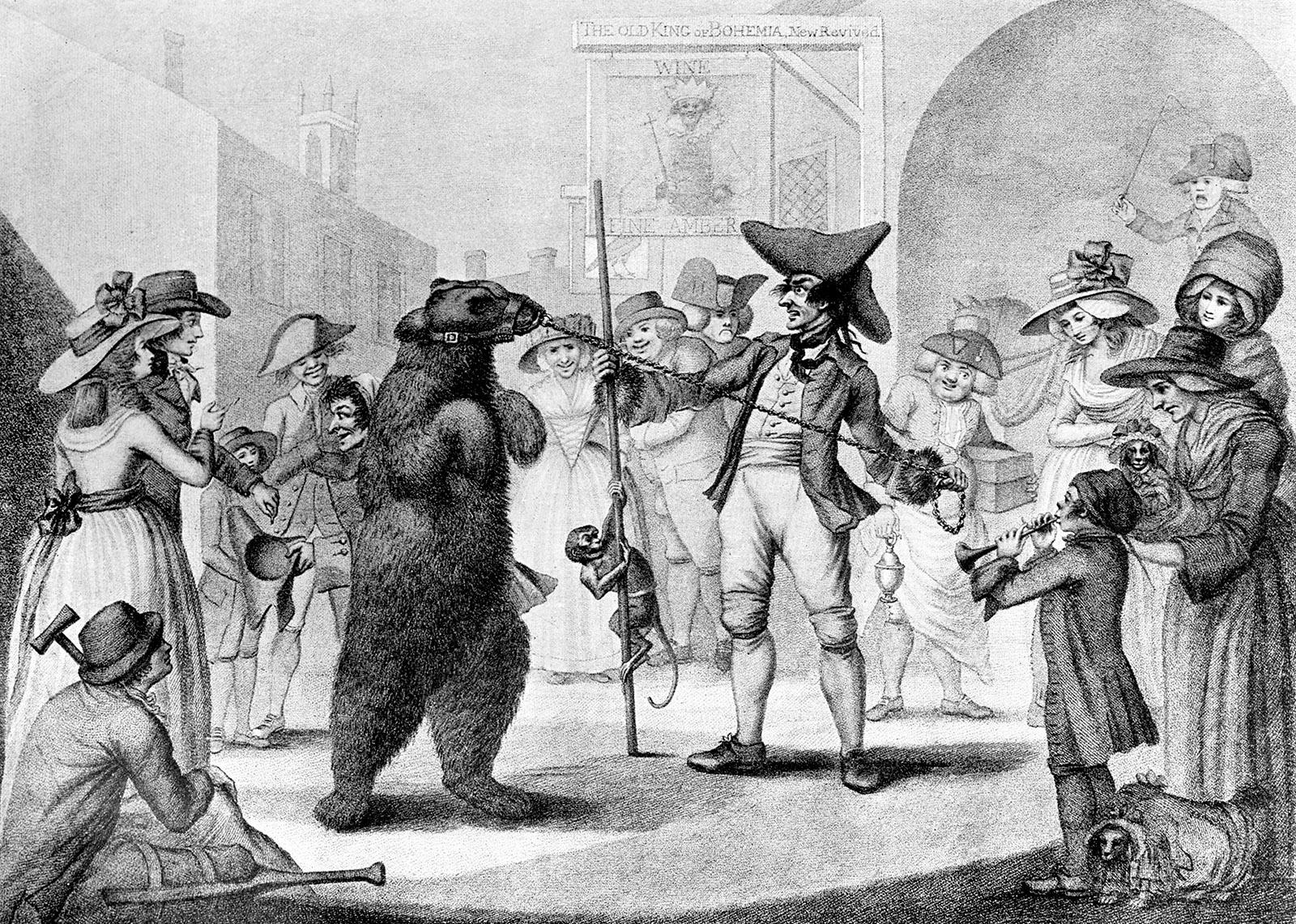 'Dancing Bear'; illustration by C. Knight, 1875
