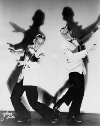 Bob Fosse and Charles Grass performing as the Riff Brothers, 1943