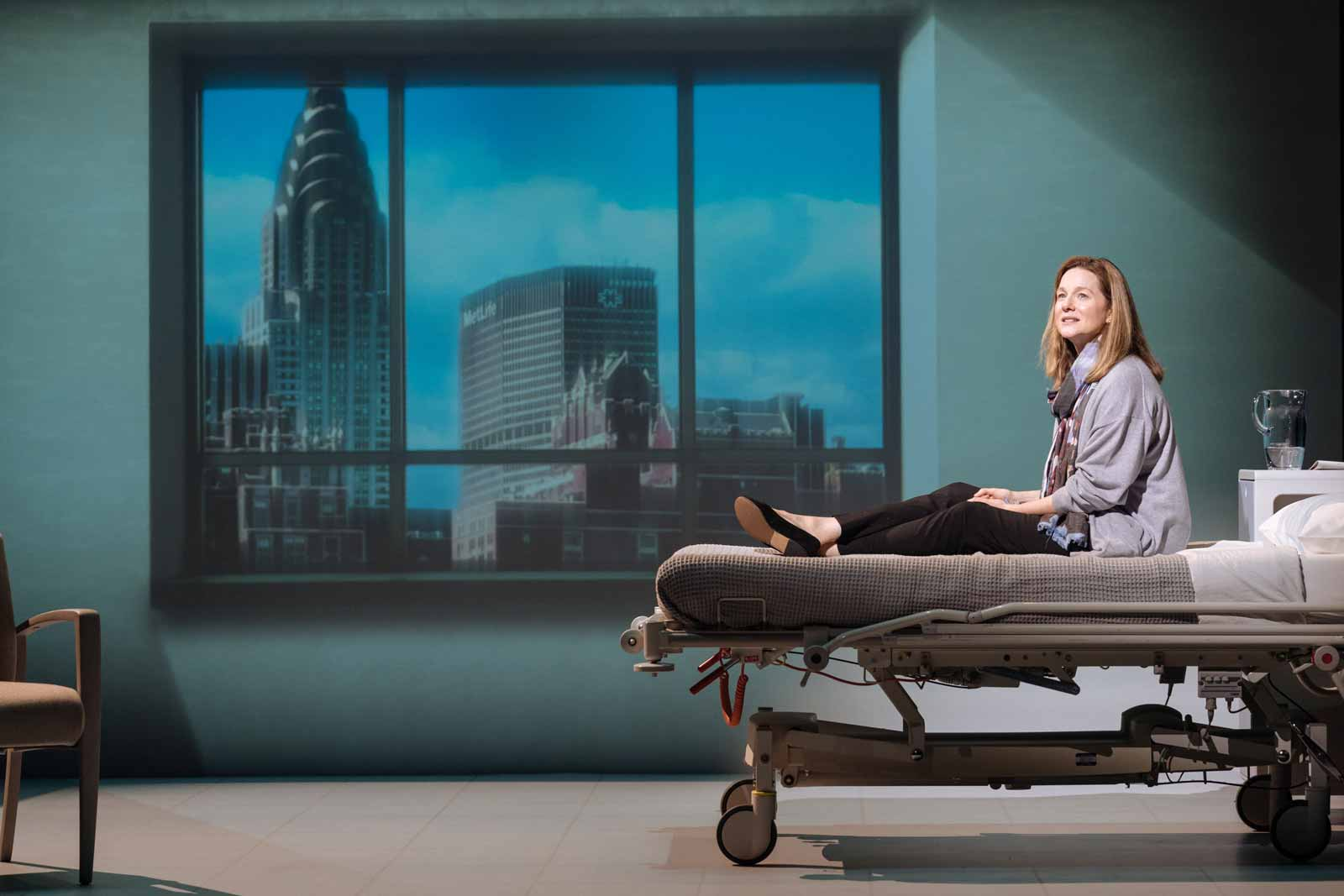 Laura Linney as Lucy Barton in My Name is Lucy Barton, directed by Richard Eyre, Bridge Theatre, London, 2018