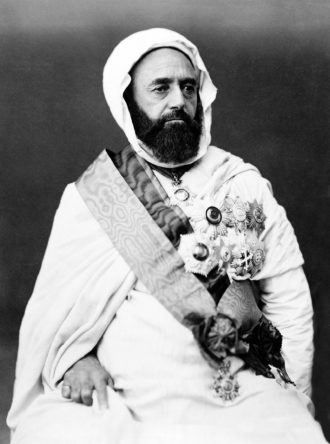 The Algerian military and religious leader Abd al-Qadir, circa 1870