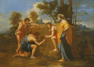 Nicolas Poussin: Et In Arcadia Ego (Arcadian Shepherds), 1637–1638