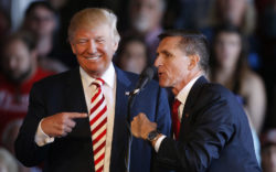 Donald Trump with Lt. Gen. Michael Flynn at a presidential campaign stop in Grand Junction, Colorado, October 18, 2016