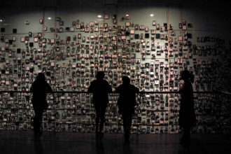 Photographs of Chileans who were executed under Pinochet's military dictatorship, at the Museum of Memory and Human Rights in Santiago, which opened in 2010