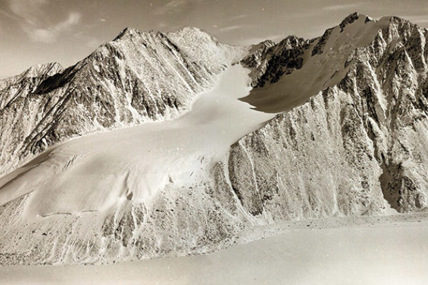The McCall Glacier in the Brooks Range of Alaska, photographed in 1958