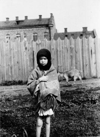A peasant girl during the Holodomor, Ukraine's Stalin-era famine, Kharkiv, 1933