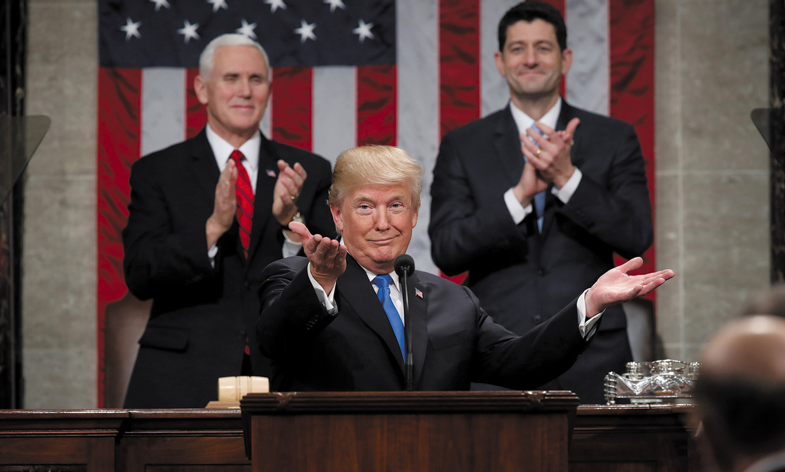 Donald Trump delivering the State of the Union address, Washington, D.C., January 2018