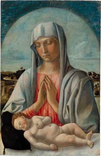 Giovanni Bellini: Madonna Adoring the Sleeping Child, early 1460s