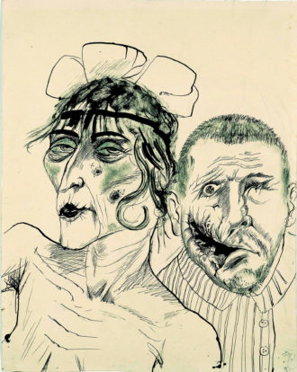 Otto Dix: Prostitute and Disabled War Veteran. Two Victims of Capitalism, 1923