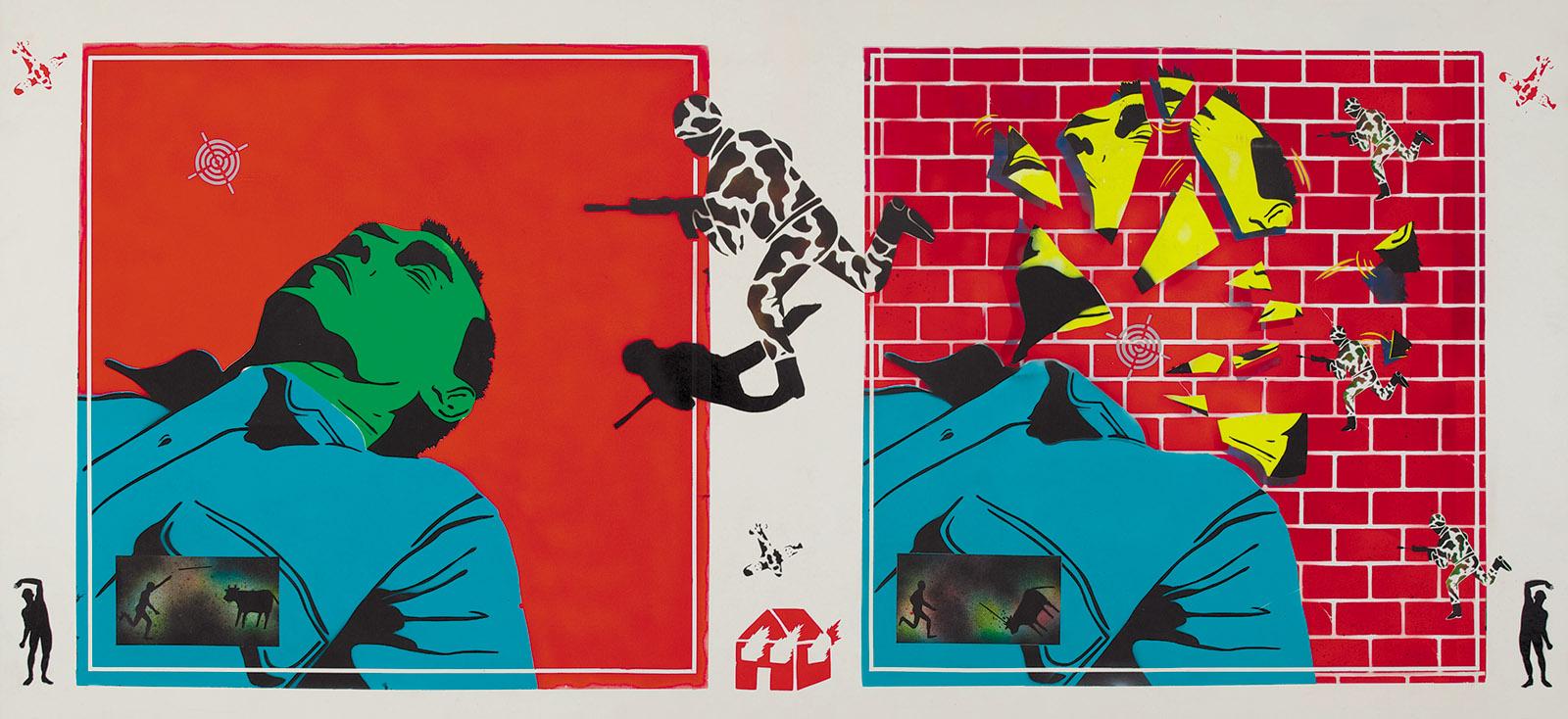 David Wojnarowicz: Untitled (Green Head), 1982
